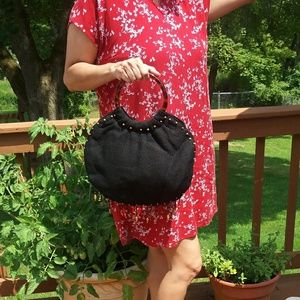 Handbags - Boho beaded bag with tortoise handles